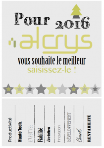 Bonne annee 2016 Alcrys